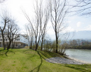Promenade / river bank / nursing home in Innsbruck